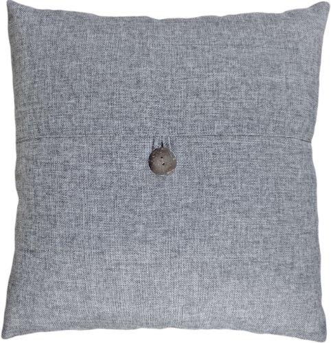 Blue Dolphin Deko-Knopf Grau Überwurf Kissenbezug 45,7cm -
