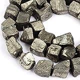 Rubyca pirite pietra preziosa naturale nugget sciolto perline AAA grade 1filo per gioielli fai da te 47PCS, Nugget 10mm