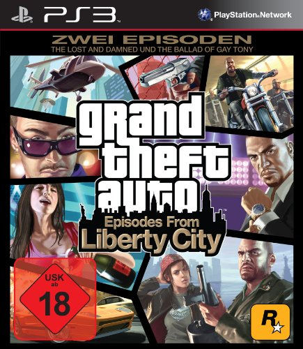 "Rockstar Games Grand Theft Auto: Episodes from Liberty City - Zwei komplette Spiele: ""The Lost and Damned"" + ""The Ballad of Gay Tony"""