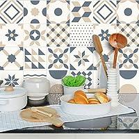 Ambiance-Live Azulejos hidráulicos adhesivos para pared–Azulejos–20x 20cm–24piezas