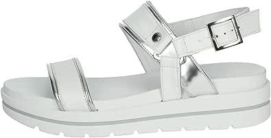 Sandalo da Donna NeroGiardini in Pelle Bronzo o Bianco E012611D. Scarpa dal Design Raffinato. Collezione Primavera Estate 2020