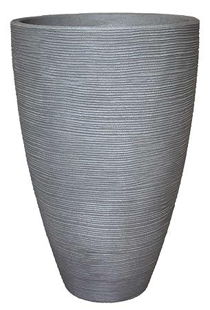 Pflanzkübel Vasenform Rillentopf rund aus Kunststoff, Farbe ...