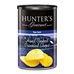 Hunter's Gourmet Hand Cooked Crinkled Chips Sea Salt - 140gm