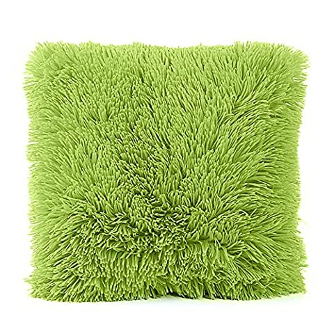 aipark Plüsch Kissen Schutzhülle Super Soft Kissenbezug für Familie Platz Sofa Couch Stuhl Sitz grün