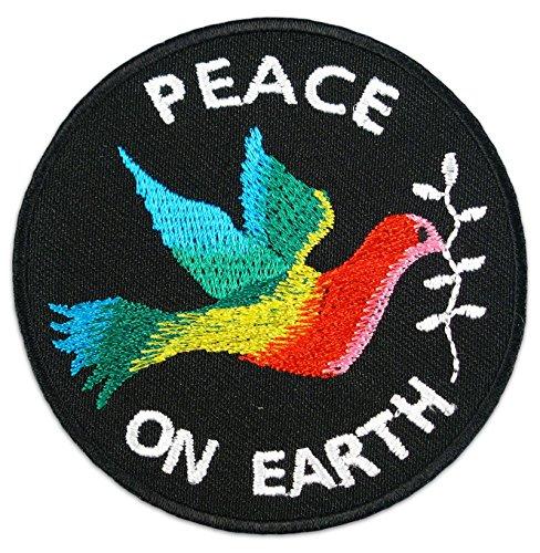Peace On Earth Aufnäher Aufbügler Patch Pazifismus Frieden Anti Kriegs Bewegung