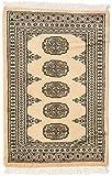 CarpetVista Pakistan Buchara 2ply Teppich 62x93 Orientalischer Teppich