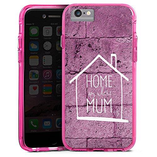 Apple iPhone 7 Bumper Hülle Bumper Case Glitzer Hülle Muttertag Mothersday Gift Bumper Case transparent pink