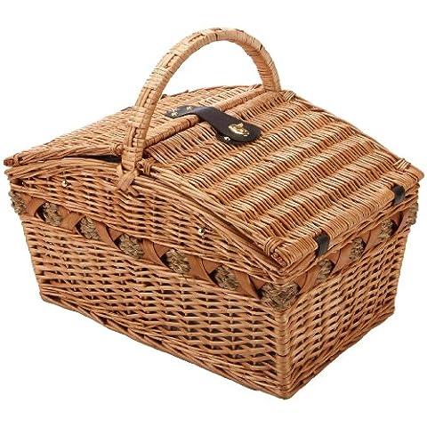 Cilio Verbania Deluxe 155709 - Cesta de picnic para 4 personas