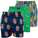 Happy Shorts 3 Webboxer Herren Boxer Motiv Boxershorts Farbwahl, Grösse:M - 5-50, Präzise Farbe:Design 3