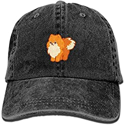 Doormat shirt Unisex Kawaii Dog Cartoon Pomeranian Personal Group Athletic Cowboy Cap Peaked Baseball Cap
