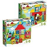 LEGO Duplo 2-teiliges Set 10616 10617 Mein erstes Spielhaus + Mein erster Bauernhof