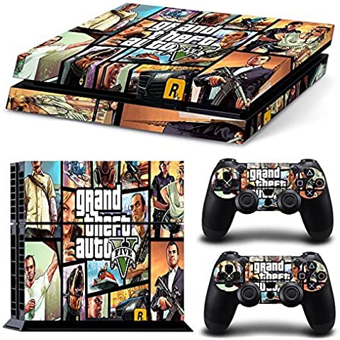 Hambur? PS4 Console Designer Skin for Sony PlayStation 4 System plus Two(2) Decals for: PS4 Dualshock Controller --- Grand Theft Auto V 5 Game Series GTA V 5 by Hambur