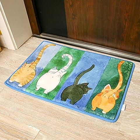FQG*Korallenfische cartoon gatti Mimi stuoie cucina coreana giapponese Fußmatte dormitorio, bagno ha una rutschfeste piedi, 500mm x 800mm 4 assorbente, gatti parcheggio - Fisher Price Fogli
