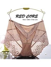 RangYR Ropa interior sexy para mujer, encaje, floroscopio, cintura, ropa interior, gasa femenina, sin marcas, 3 Sra.
