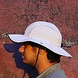 QUIPCO QP0019BgM Rip-Stop Commuter Anti UV Hat, Medium (Beige)