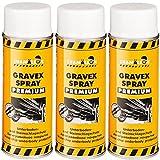 Chamäleon Premium UBS 3 x 400ml Spray Weiß Anti GRAVEX Schutz UNTERBODENSCHUTZ
