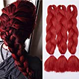 Best Synthetic Hairs - 3Pcs Braiding Hair Extensions Crochet 24 Inches Hair Review
