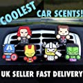 2 x Coolest Novelty Car Air Fresheners! Marvel Avengers, Game Of Thrones, Deadpool, Antman, Star Wars, Batman, Superman, Hulk, Thor, Ironman, Captain America, Black Widow, Hawkeye, Ninja Turtles...Transform Your Boring Car Into The Coolest Car In 60 Secon