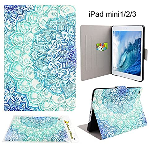 Coque iPad Mini 1/2/3 Cuir Etui, Moon mood® Etui pour Apple iPad Mini 1/2/3 7.9 pouce PU Cuir Harte PC à l