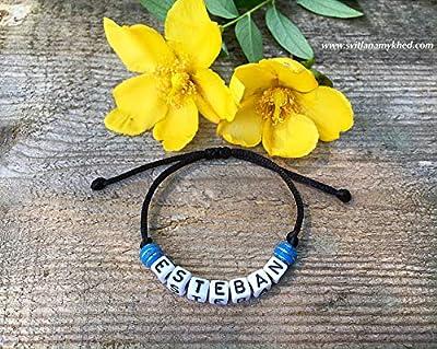 Bracelet ESTEBAN personnalisé avec prénom (réversible) homme, femme, enfant, bébé, nouveau,né.