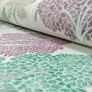 Arthouse Ellwood Tree Pattern Forest Leaves Motif Glitter Wallpaper (Multi 670000)