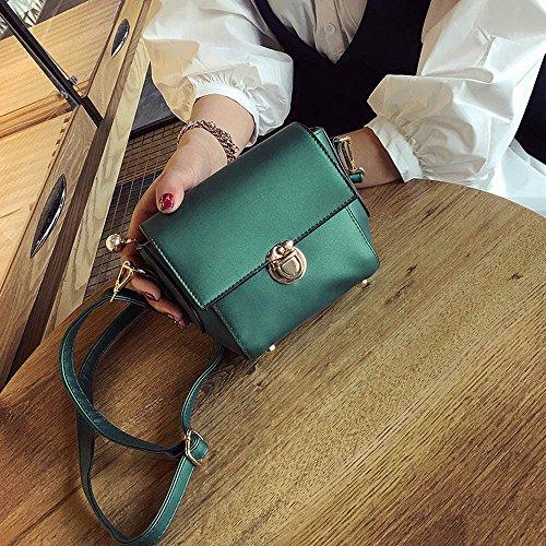 Damen Umhänge Tasche - Xjp Klein Umhängetasche PU Leder Crossbody Tasche Messenger Bag Schultertasche Tasche Grün