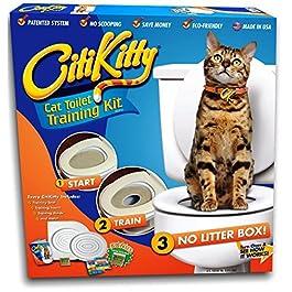 Ducomi Bobo – Training Kit per Addestramento Gatti – Addestra il Gatto ad Usare la Toilette – Alternativa alla Lettiera Gatti – WC Gatto – Sistema di addestramento all'uso del WC per Gatti + Gioco Tiragraffi