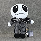Desconocido Pesadilla Antes de Navidad - Peluche Jack Skellington 25 cm / Nightmare Before Christmas Stuffed Plush Toy 10'