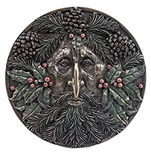 Green Man Yule Winter Wall Plaque