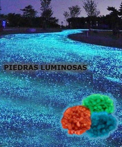 Pack de 100 piedras decorativas luminosas que brillan en la oscuridad - Naranja