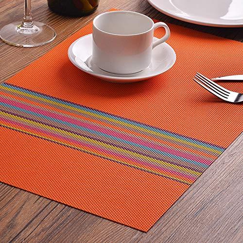 Queta 4 Stück Tischsets Schüsselunterlage Servietten Küche Esstisch Tablett Tuch Untersetzer...