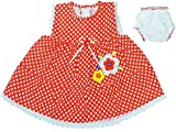 Ole Baby Dress-(Red,6-12 Months)
