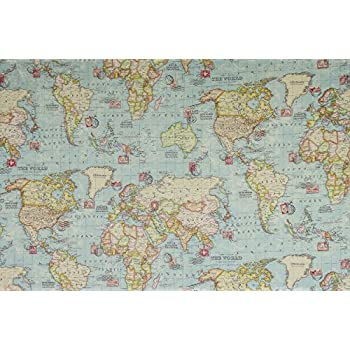 World map fabric 1 metre 100 x 140 cm extra wide soft world map fabric 1 metre 100 x 140 cm extra wide soft furnishing gumiabroncs Image collections