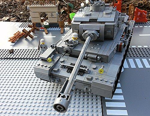 Preisvergleich Produktbild Modbrix 8210 -  Bausteine Panzer IV Ausf. F, 1000 Teile, inkl. custom Wehrmacht Soldaten aus original Lego© Teilen
