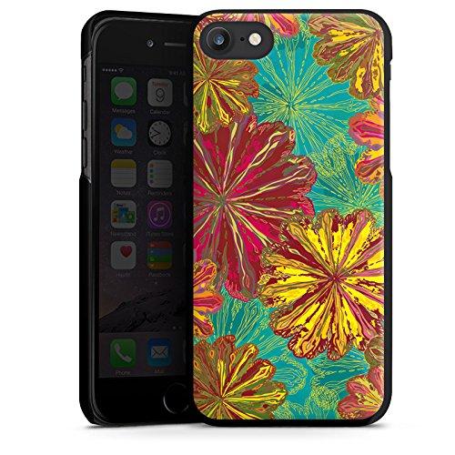 Apple iPhone X Silikon Hülle Case Schutzhülle Herbst Blumen Muster Hard Case schwarz