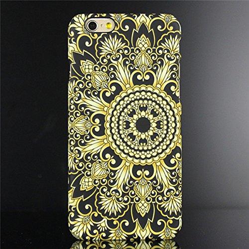 "licaso® iPhone 6 6S 4,7"" Hülle Affe Geometrisch Polycarbonat iPhone Case Schutzhülle 3D Soft Touch iPhone Hülle Rubber Design Tasche iphone6 mehrfarbig PC (iPhone 6 6S 4.7"", Affe) Mandala 3"
