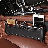 Aufbewahrungstasche aus PU-Leder für das Auto, für Tablet, iPhone, Münzen, Seitentasche