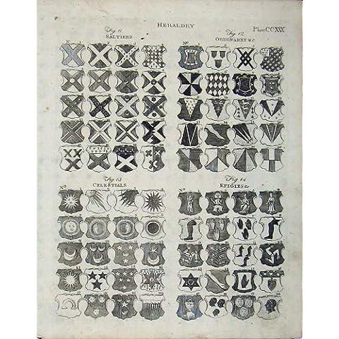Il Cappotto 1801 di Britannica dell'Enciclopedia dell'Araldica Arma i Distintivi - Cappotto Britannico Di Armi