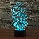 Lampada 3D di alimentazione USB 7 colori stupefacente di illusione ottica 3D Grow lampada di arte LED scultura bambini Camera Night Light