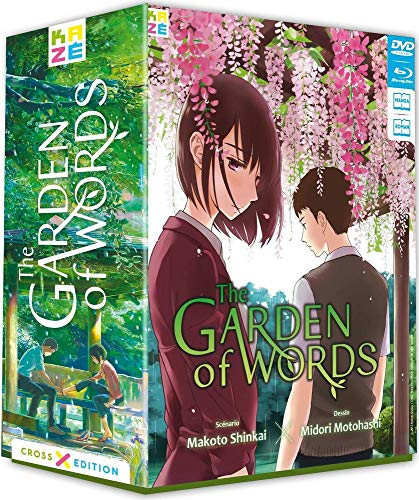 Garden of Words (The) Collector [Cross Édition Limitée Blu-ray + DVD+ Roman + Manga] [Cross Edition Blu-ray + Manga]