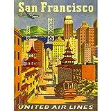 TRAVEL SAN FRANCISCO CALIFORNIA UNITED AIRLINE GOLDEN GATE