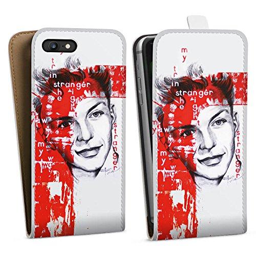 Apple iPhone X Silikon Hülle Case Schutzhülle Frank Sinatra Zeichnung Mann Downflip Tasche weiß