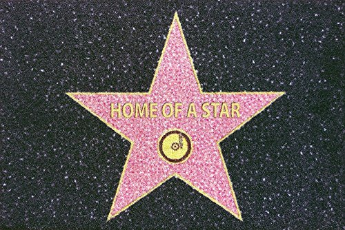 –Felpudo (60x 40cm, antideslizante, diseño a elegir, (con pequeño regalo gratuito), poliamida, Home Of A Star - Grau, 40 x 60cm