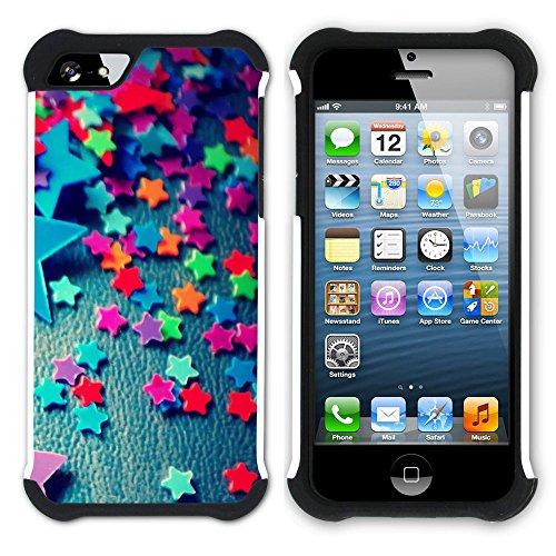 Graphic4You Mermaid Underwater Design Hart + Weiche Kratzfeste Hülle Case Schale Tasche Schutzhülle für Apple iPhone SE / 5 / 5S Design #10