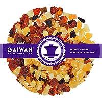 "No. 1374: Fruit tea loose leaf ""Fruity Melon"" - 100 g (3.5 oz) - GAIWAN® GERMANY - melon cubes, rose hip, pineapple and papayas, beetroot, apple"