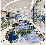 Weaeo 3D-Stock Malerei Wallpaper Gehweg Ausstellungshalle Sky 3D Stereo Bodenbeläge Im Freien Malerei 3D-Tapeten Pvc-350 X 250 Cm.