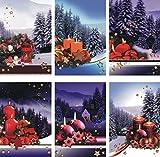 Weihnachtskarten 50 Stück mit Weihnachtsmotiven Glückwunschkarten Weihnachten 22-0001 Weihnachtskarte Glückwunschkarte Grußkarte Grußkarten