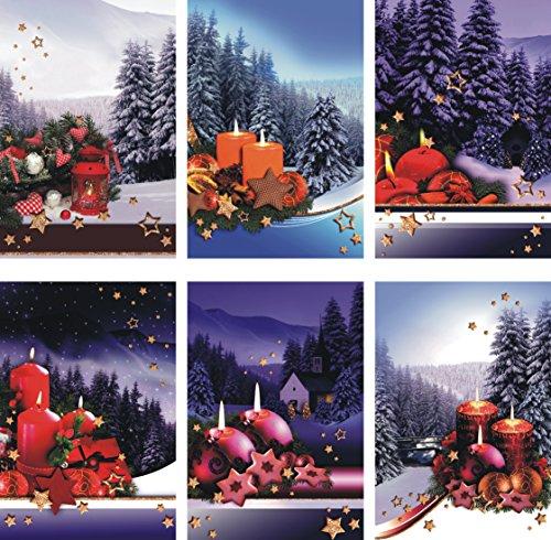 Biglietti Di Natale On Line.Biglietti Di Natale Con Motivi Natalizi 50 Pezzi Biglietti