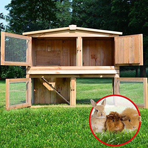 Stall Nr 2 Kaninchenstall Hasenstall Kaninchenkäfig Hasenkäfig Meerschweinchenstall - 3