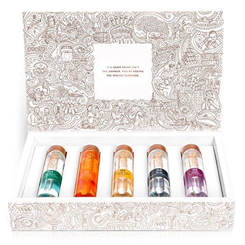 """Tastillery Gin Tasting Probierset """"Exotic Exploration"""" in Geschenkbox (5 x 50ml) - Produkt aus der Höhle der Löwen"""